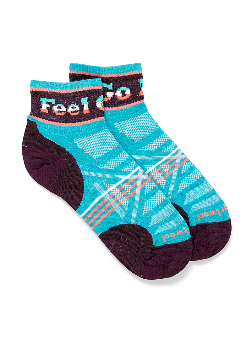 Smartwool Teal Outdoor Ultra Light multicolour ankle socks for women