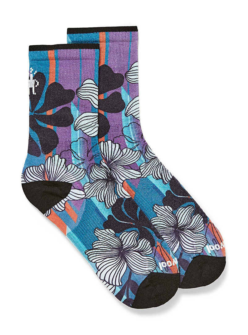 Smartwool Patterned Crimson Cycle Ultra Light floral socks for women
