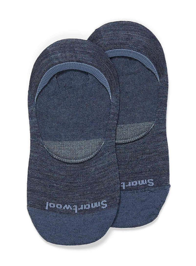 Smartwool Dark Blue Merino wool foot liner for women