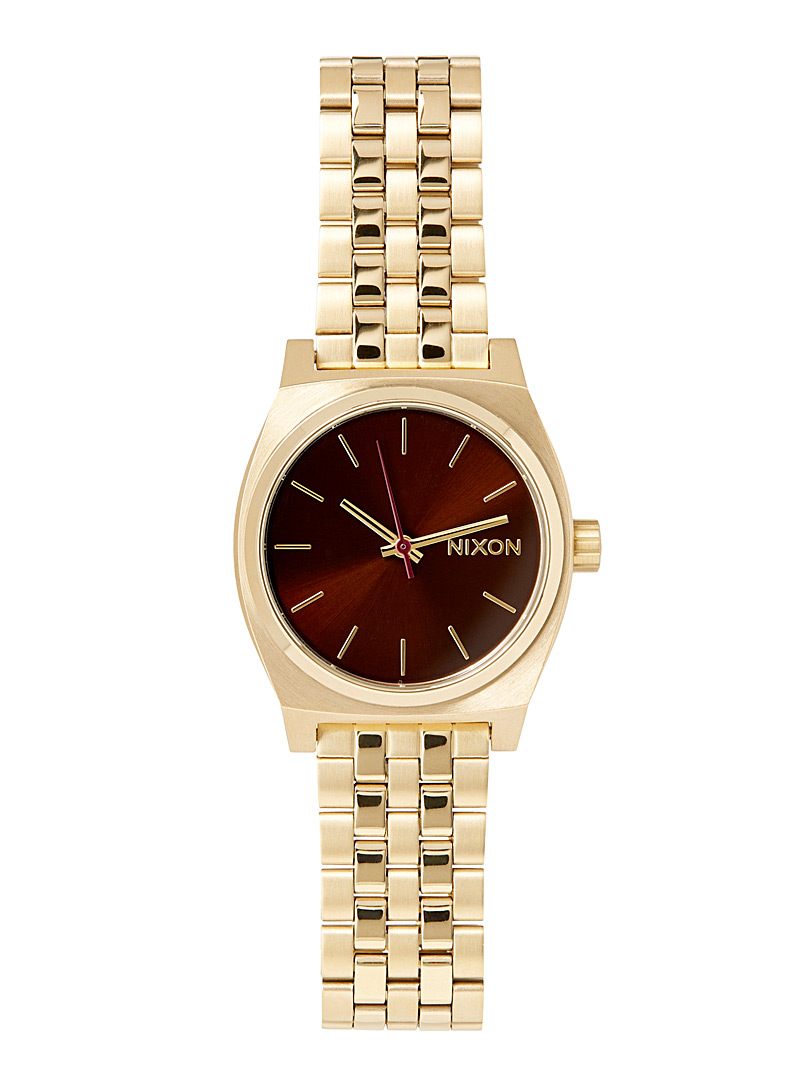 Nixon Assorted Medium Time Teller metallic watch for women