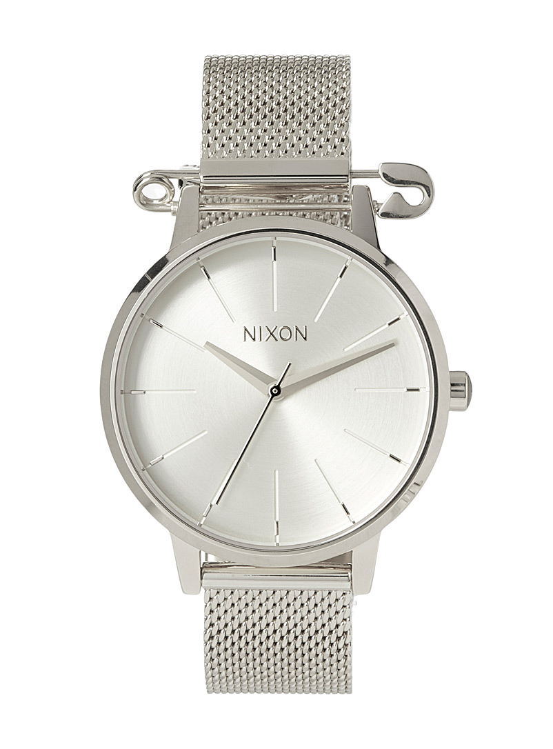 Nixon Silver Kensington Milanese watch for women