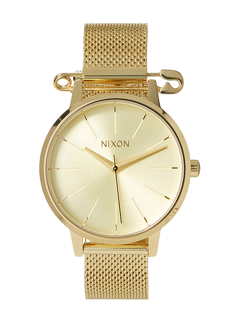 Nixon Gold Kensington Milanese watch for women