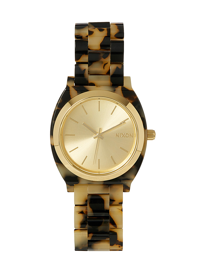 Nixon Brown Time Teller acetate watch for women