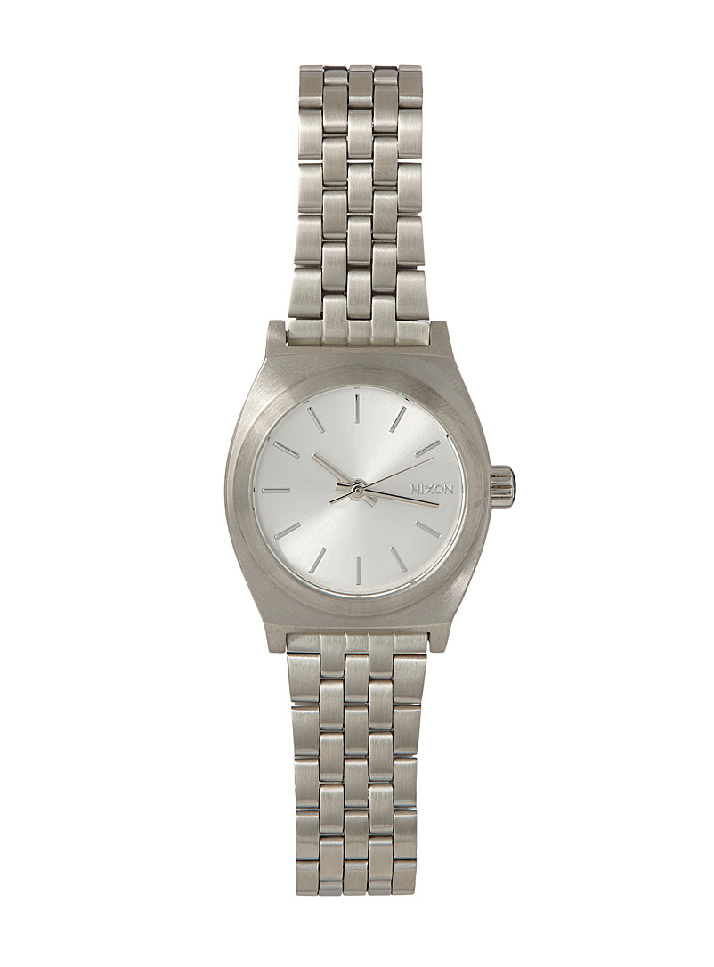 Nixon Silver Time Teller small watch for women