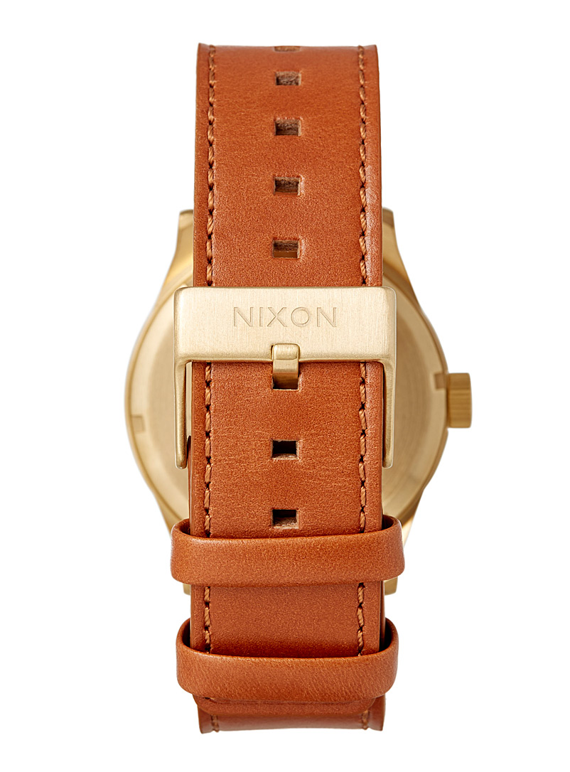 Sentry leather watch - Watches - Patterned Brown