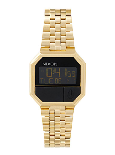 Re-Run gold digital watch