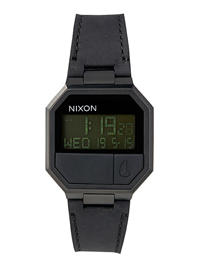 Re-Run all-black digital watch