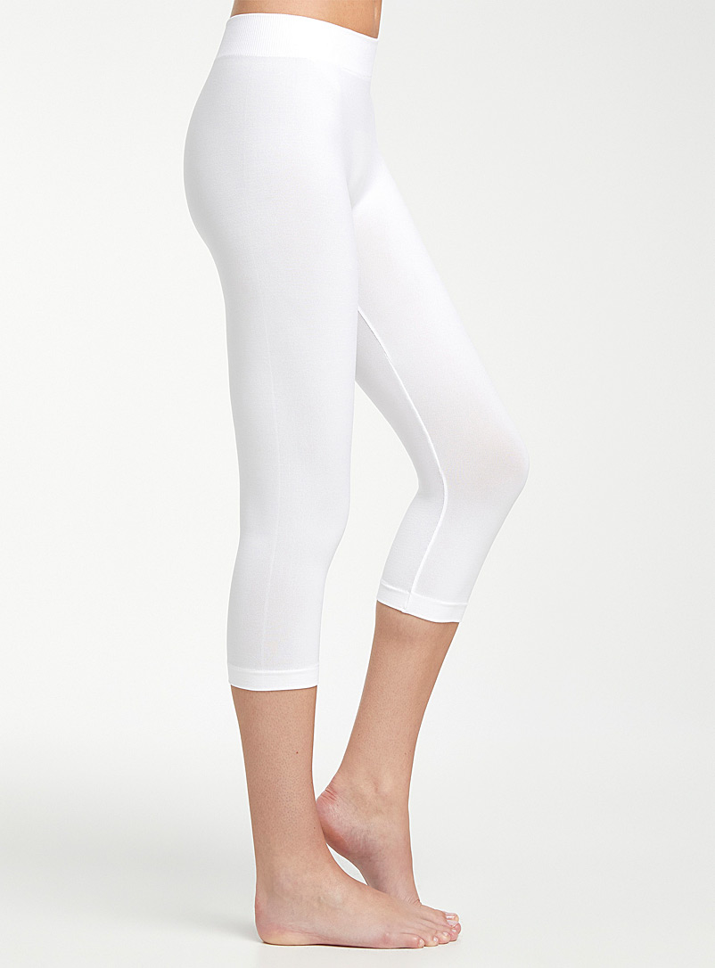 Simons Black Basic capri legging for women