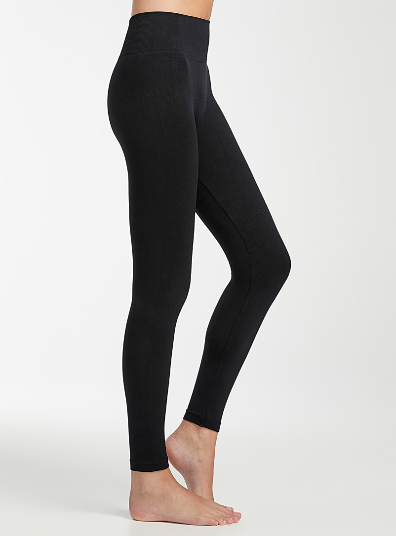 Simons Black Microfibre legging for women