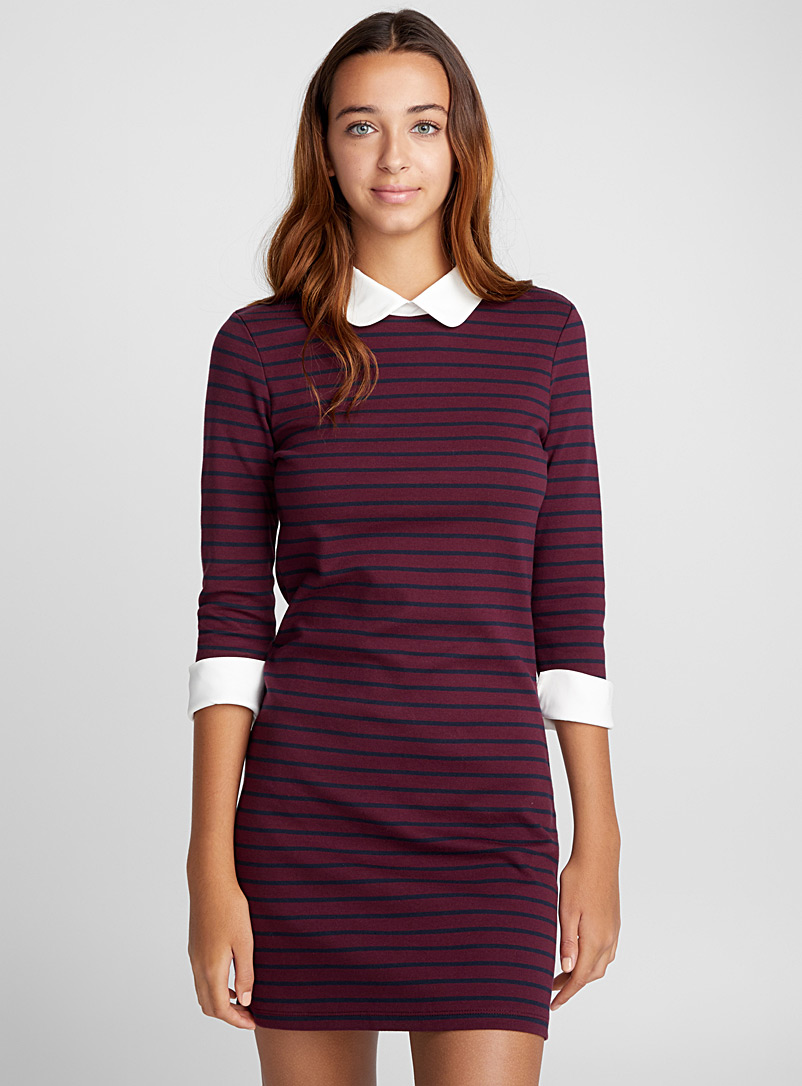 Knit dress - Bodycon - Patterned Red