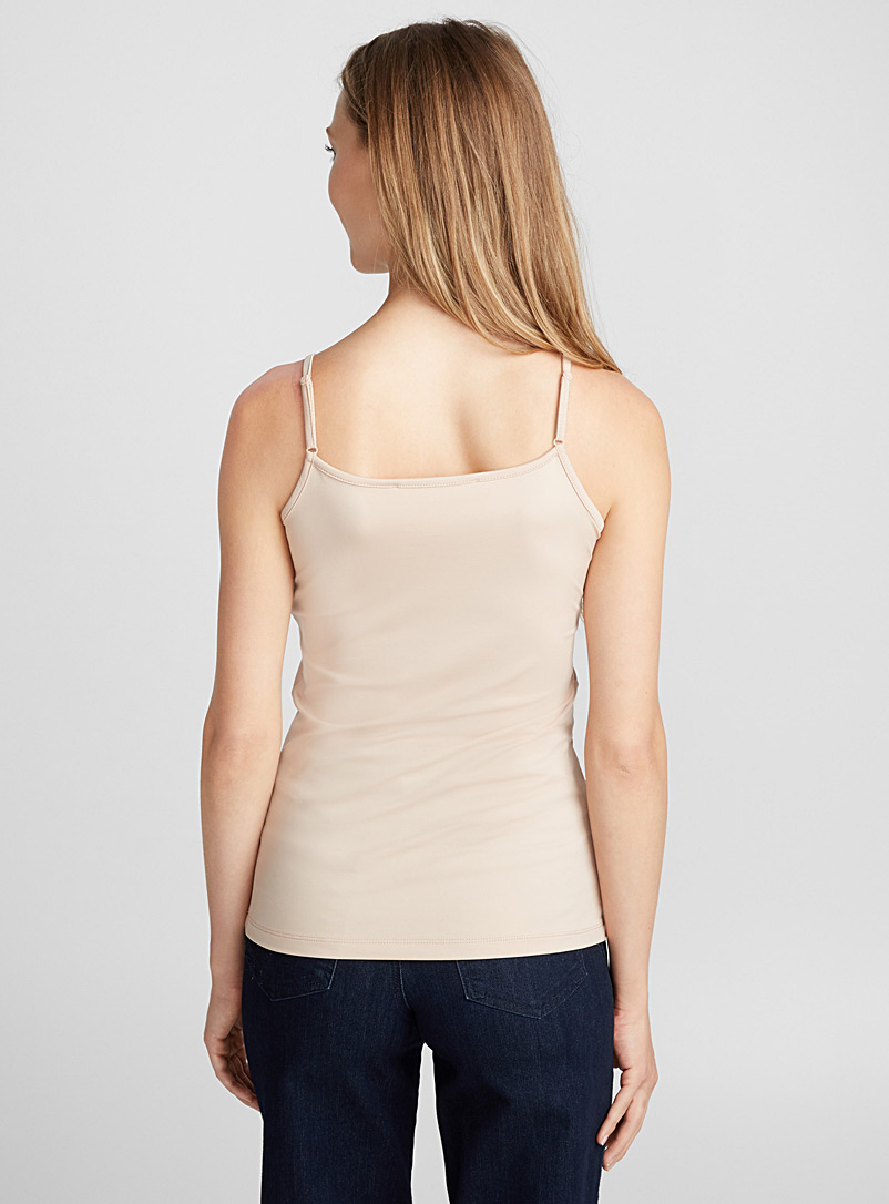 Contemporaine White Silky essential tank for women