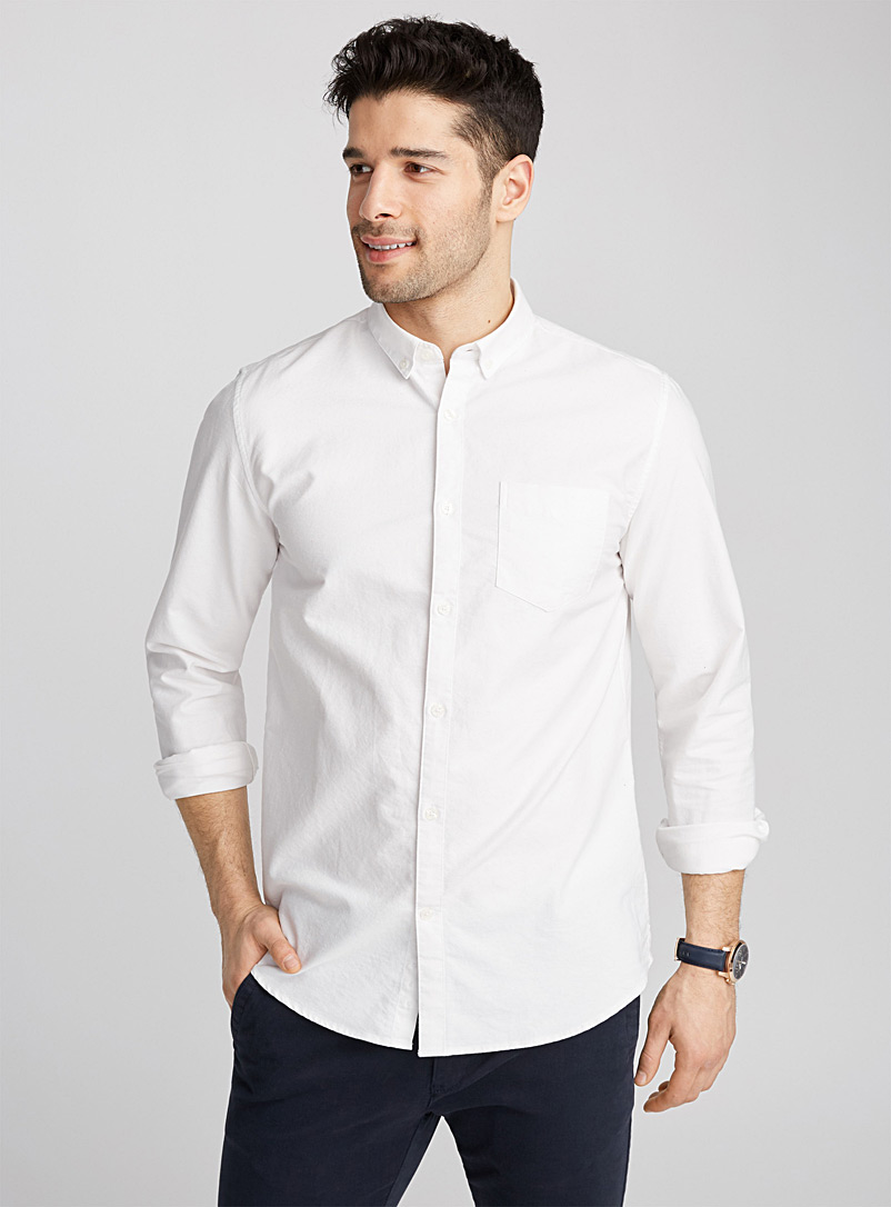 Heritage oxford shirt  Semi-tailored fit - Solid - White