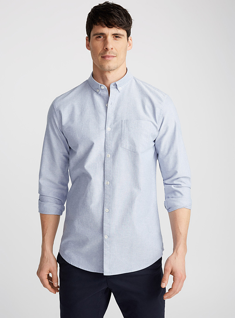 Heritage oxford shirt  Semi-tailored fit - Solid - Baby Blue