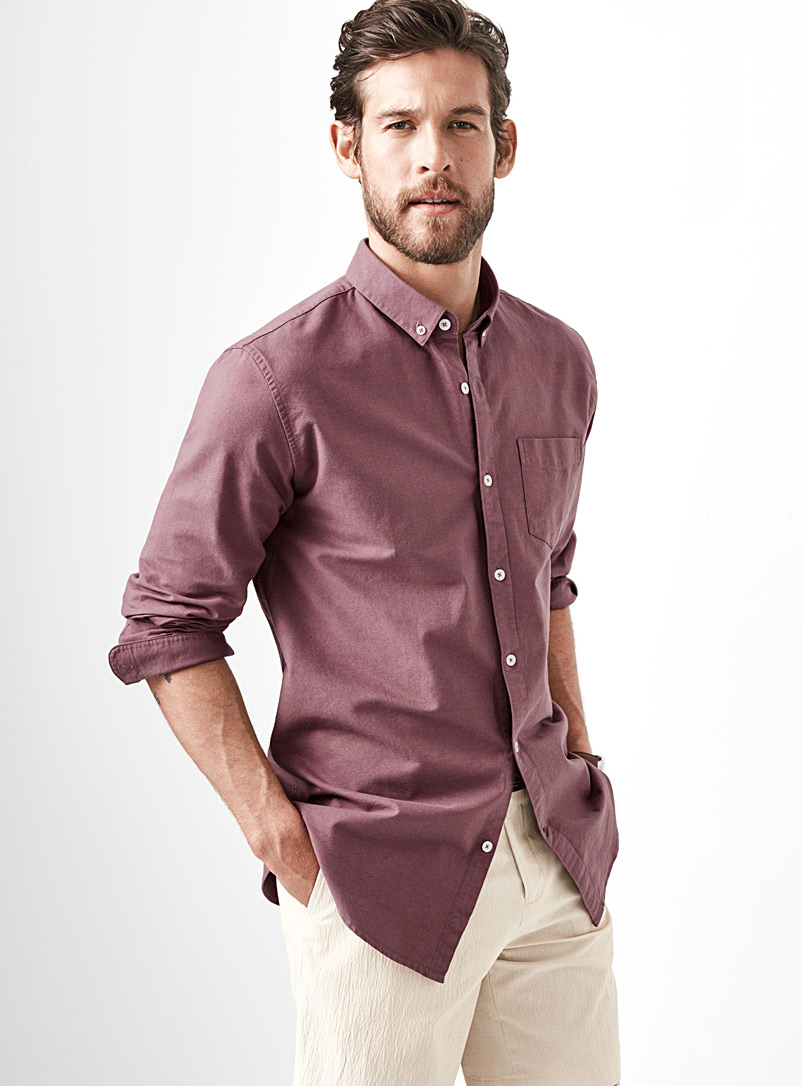 Heritage oxford shirt  Semi-tailored fit - Solid - Ruby Red