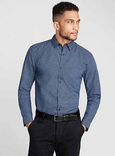 Traced check shirt  Semi-tailored fit