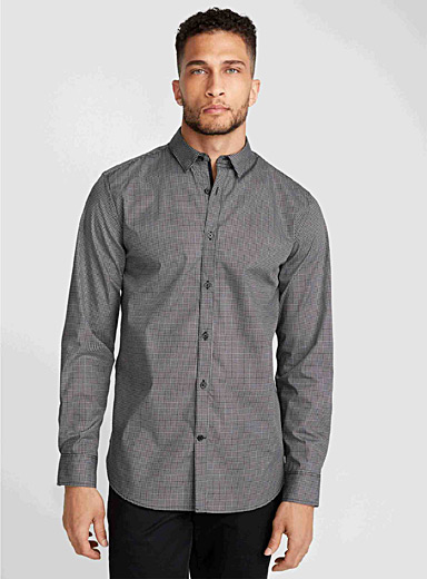 Geo weft shirt <br>Semi-tailored fit
