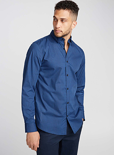 Geo weft shirt  Semi-tailored fit