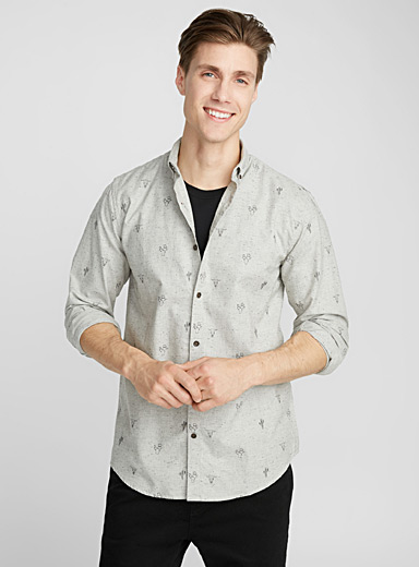 Playful oxford shirt <br>Semi-tailored fit