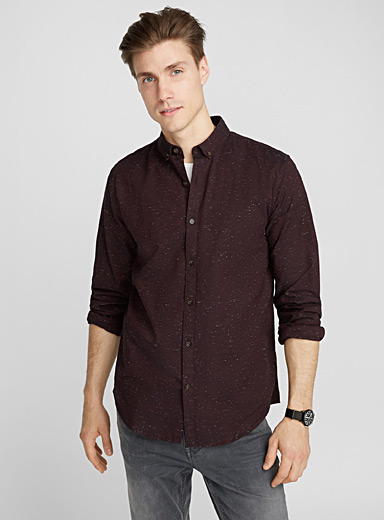 Flecked oxford shirt  Semi-tailored fit