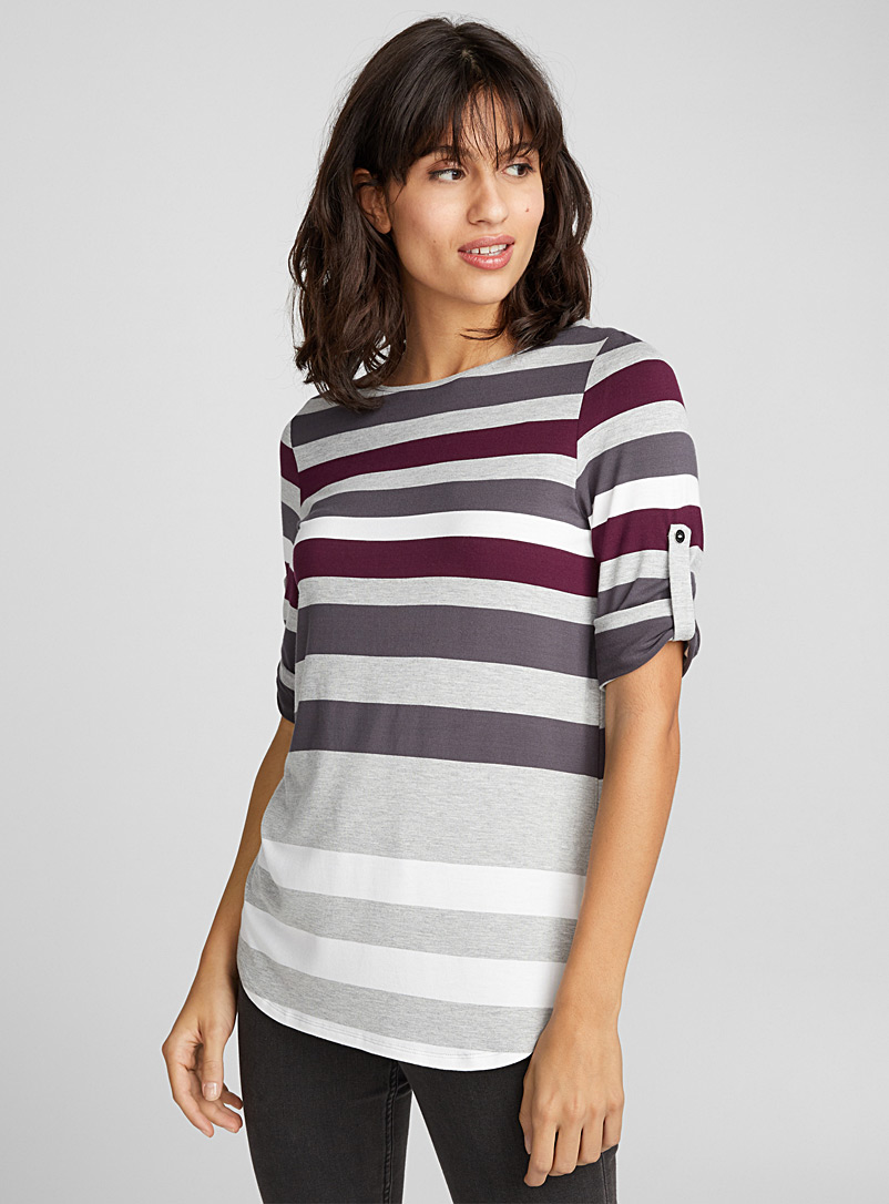 Multi-stripe tee - Short Sleeves & ¾ Sleeves - Oxford