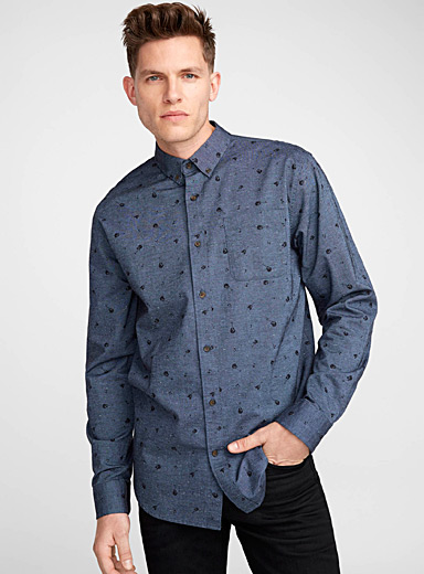 Summer print oxford shirt  Modern fit
