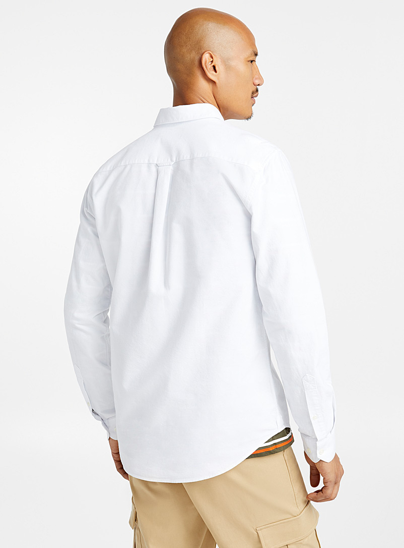 Organic cotton oxford shirt  Modern fit - Solid - White
