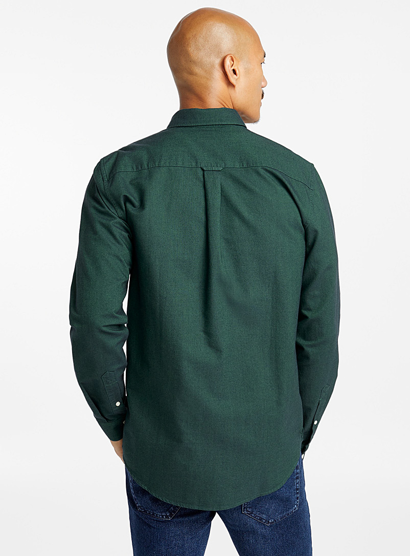 Organic cotton oxford shirt  Modern fit - Solid - Mossy Green