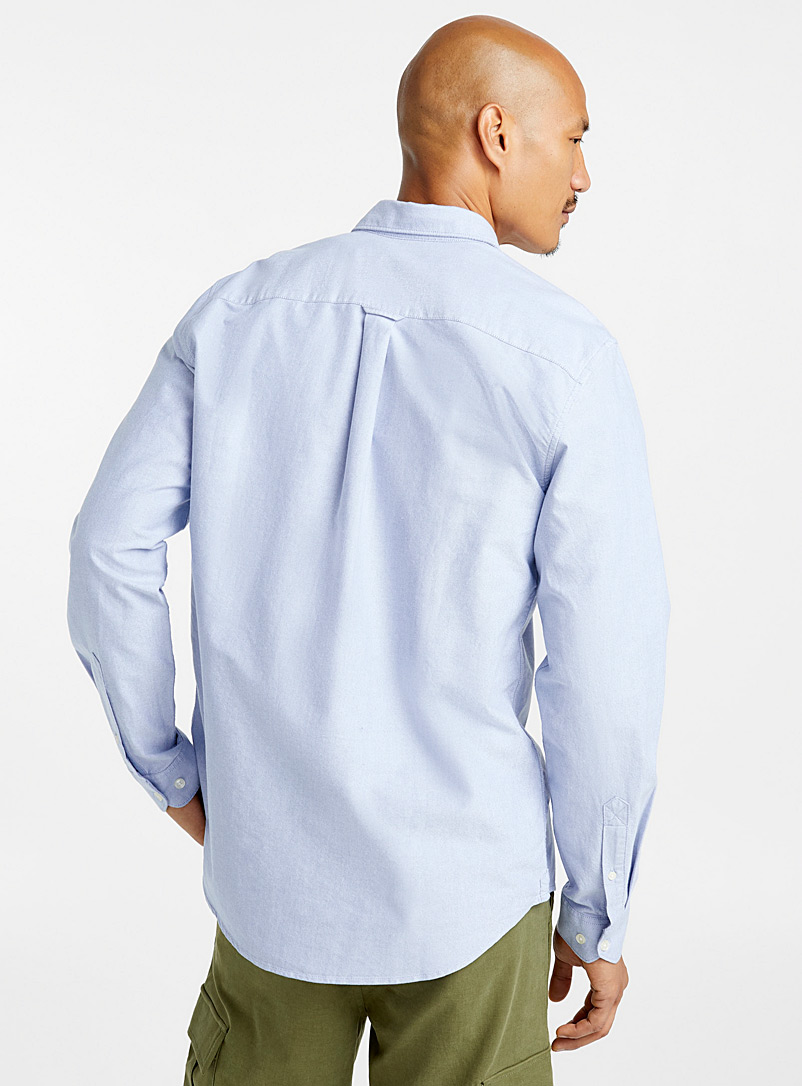 Organic cotton oxford shirt  Modern fit - Solid - Baby Blue