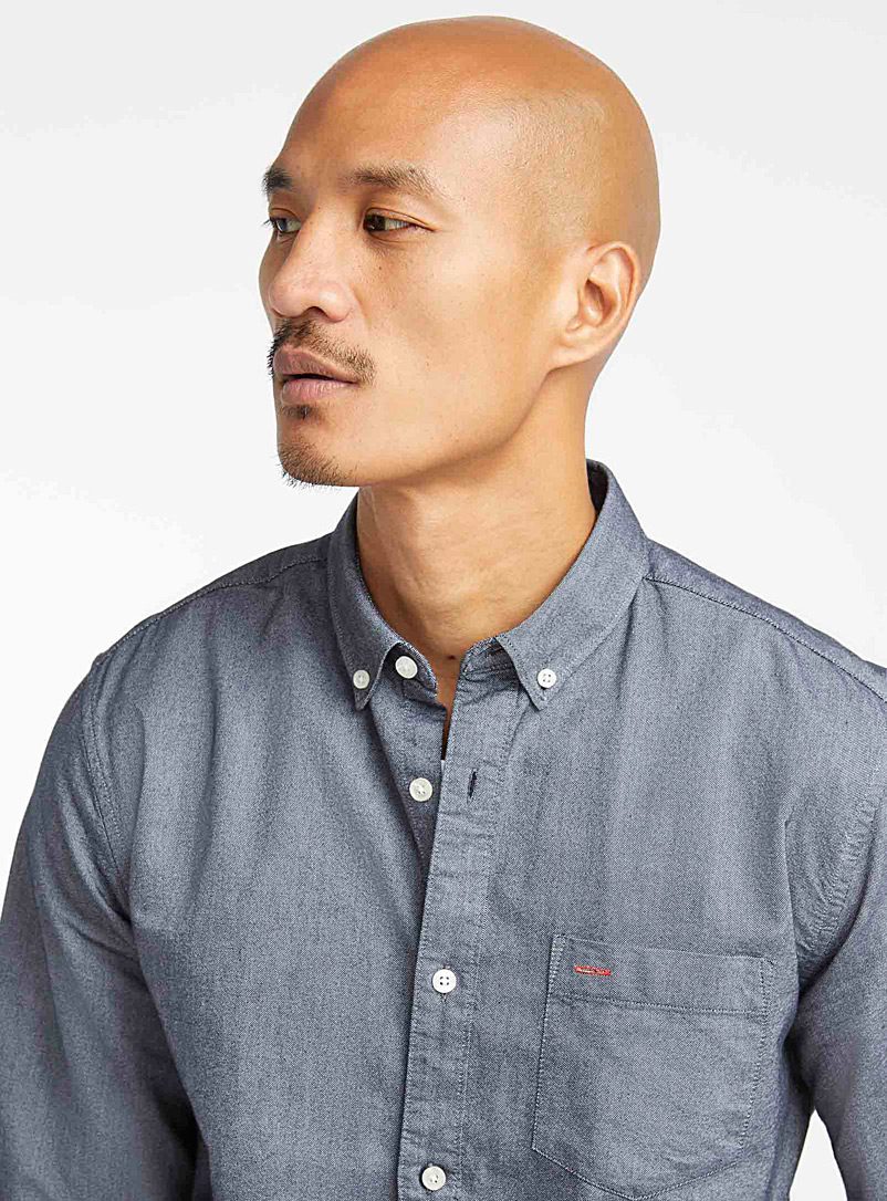 Organic cotton oxford shirt  Modern fit - Solid - Dark Grey