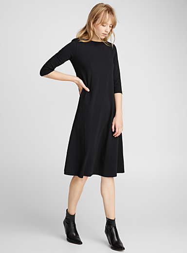 Crew-neck maxi T-shirt dress