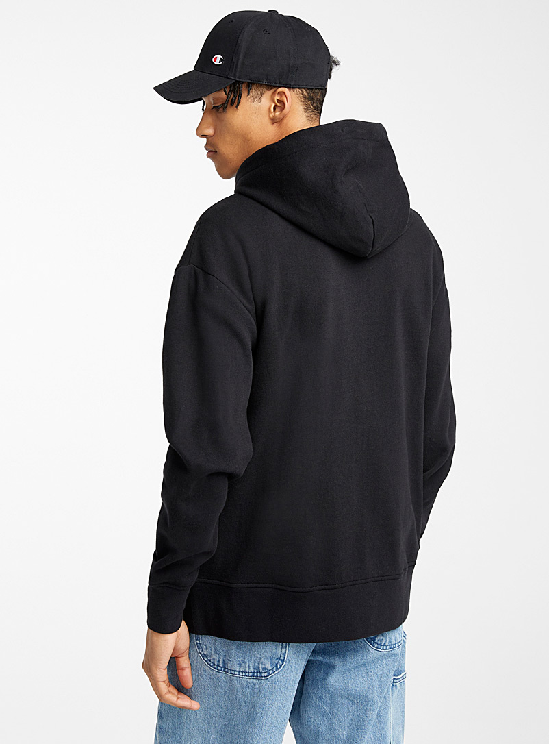 Djab Black Basic hoodie for men