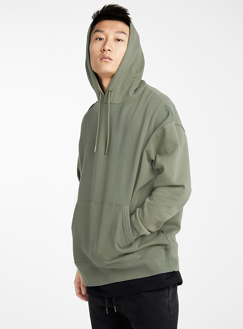 Djab Mossy Green Organic cotton basic hoodie for men