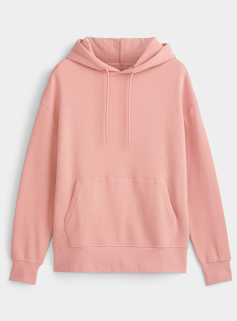 Djab Dusky Pink Organic cotton basic hoodie for men