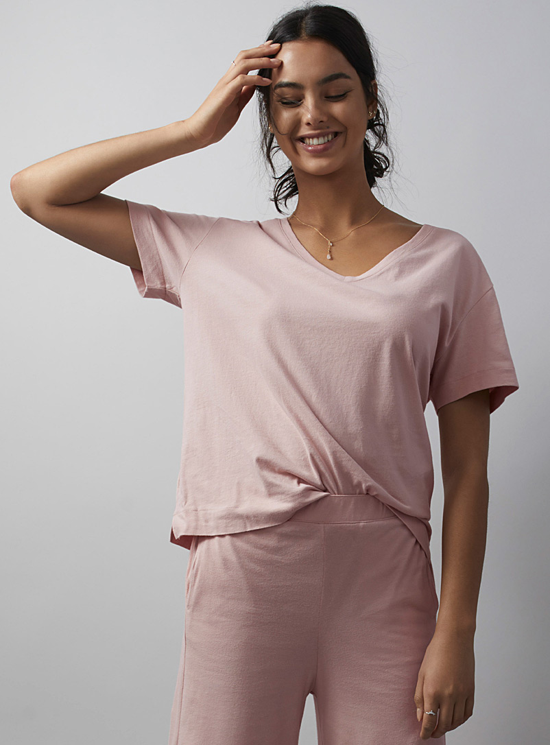Velvety organic cotton lounge tee