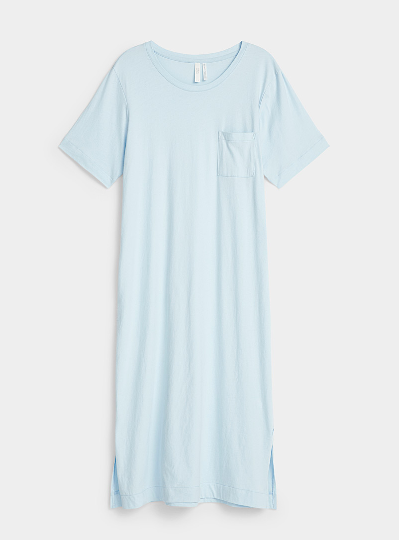 Miiyu Baby Blue Velvety organic cotton nightgown for women