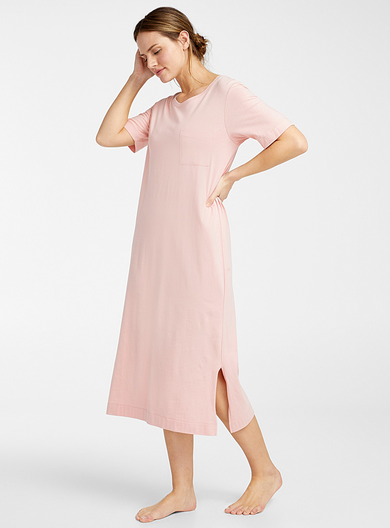Miiyu Dusky Pink Velvety organic cotton nightgown for women