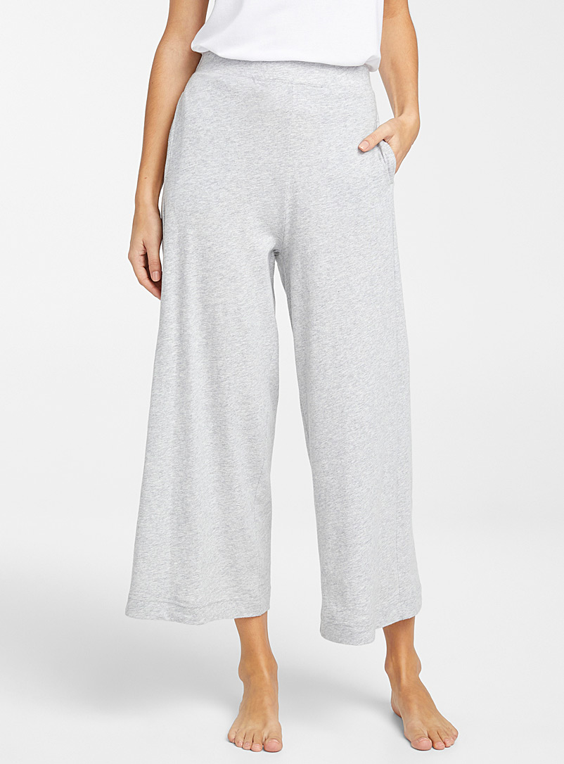 Miiyu Grey Velvety organic cotton pant for women