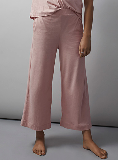 Miiyu Dusky Pink Velvety organic cotton pant for women
