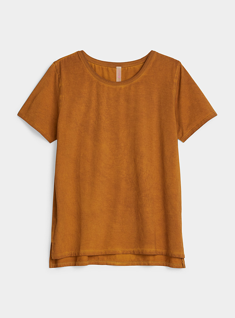 I.FIV5 Honey Cool cotton solid tee for women