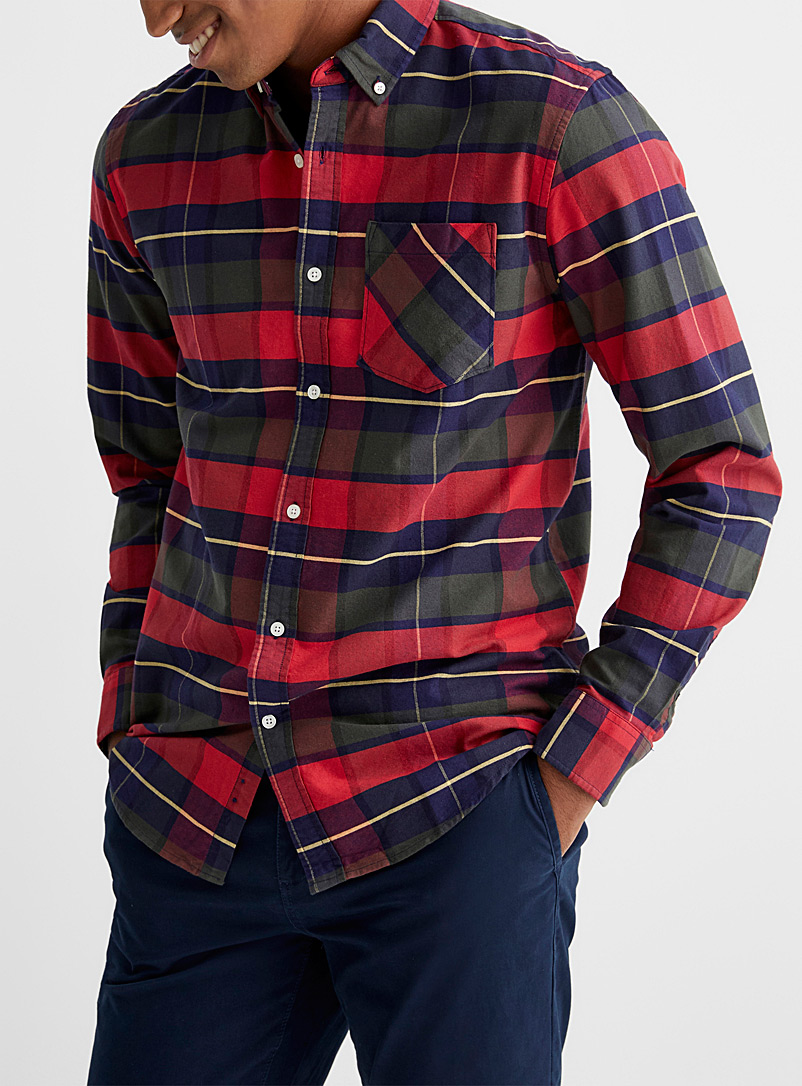 Tartan check oxford shirt  Modern fit