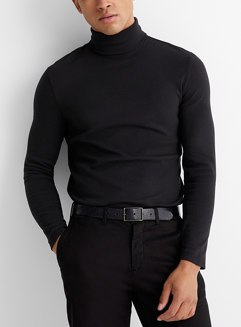 Pima and modal turtleneck