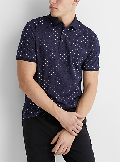 Patterned liquid cotton polo