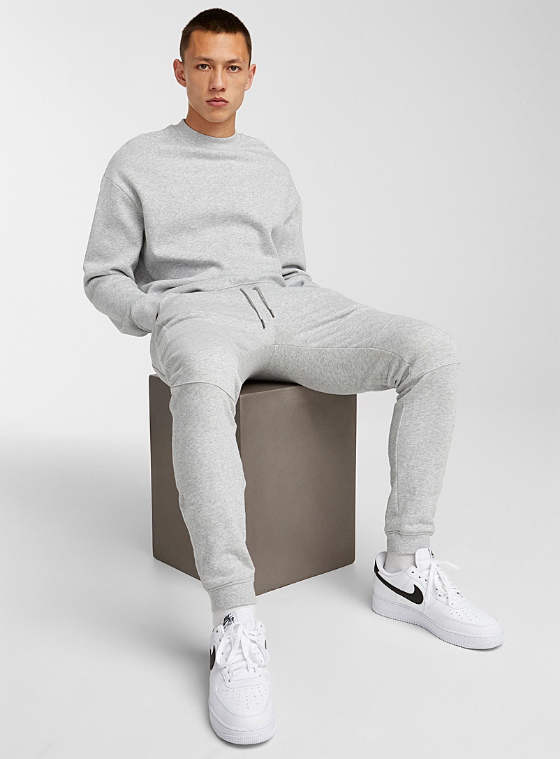 Djab Grey Basic crew-neck sweatshirt for men