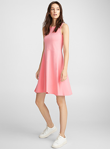 Fit-and-flare jersey dress