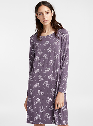 Floral print nightgown
