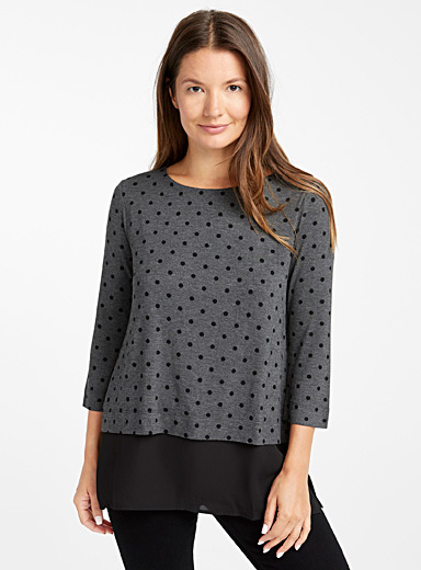Two-tier patterned tunic