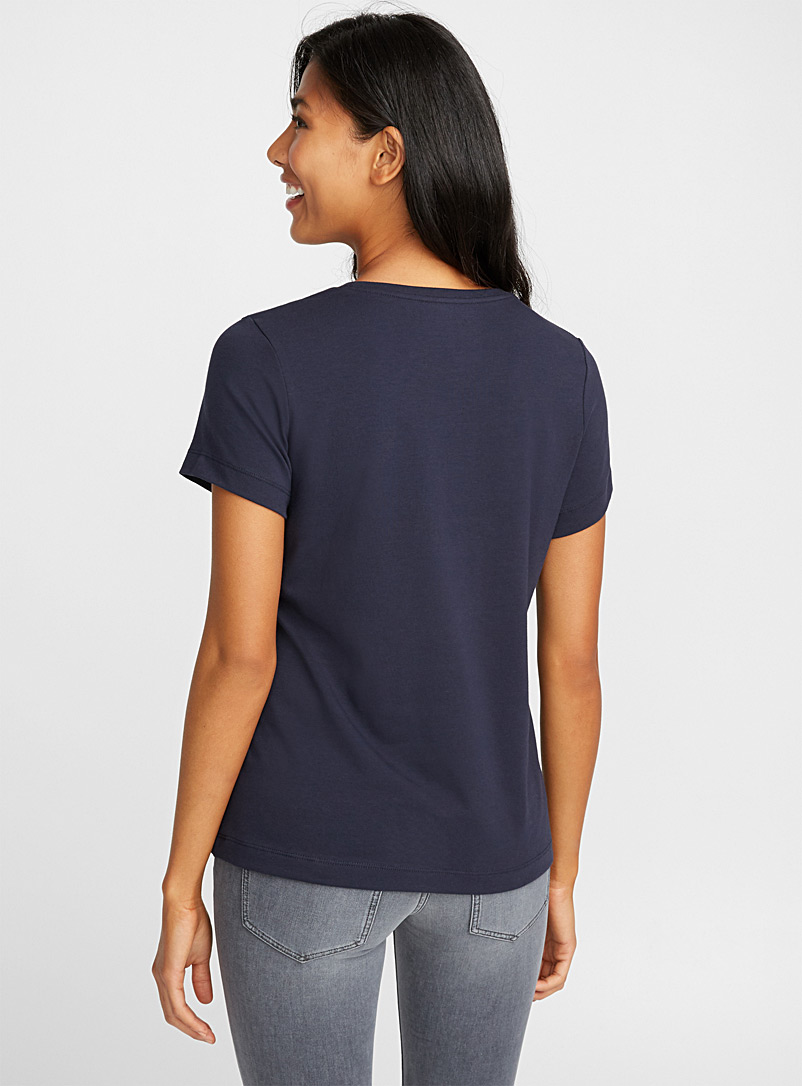 Contemporaine Red SUPIMA® cotton short-sleeve tee for women