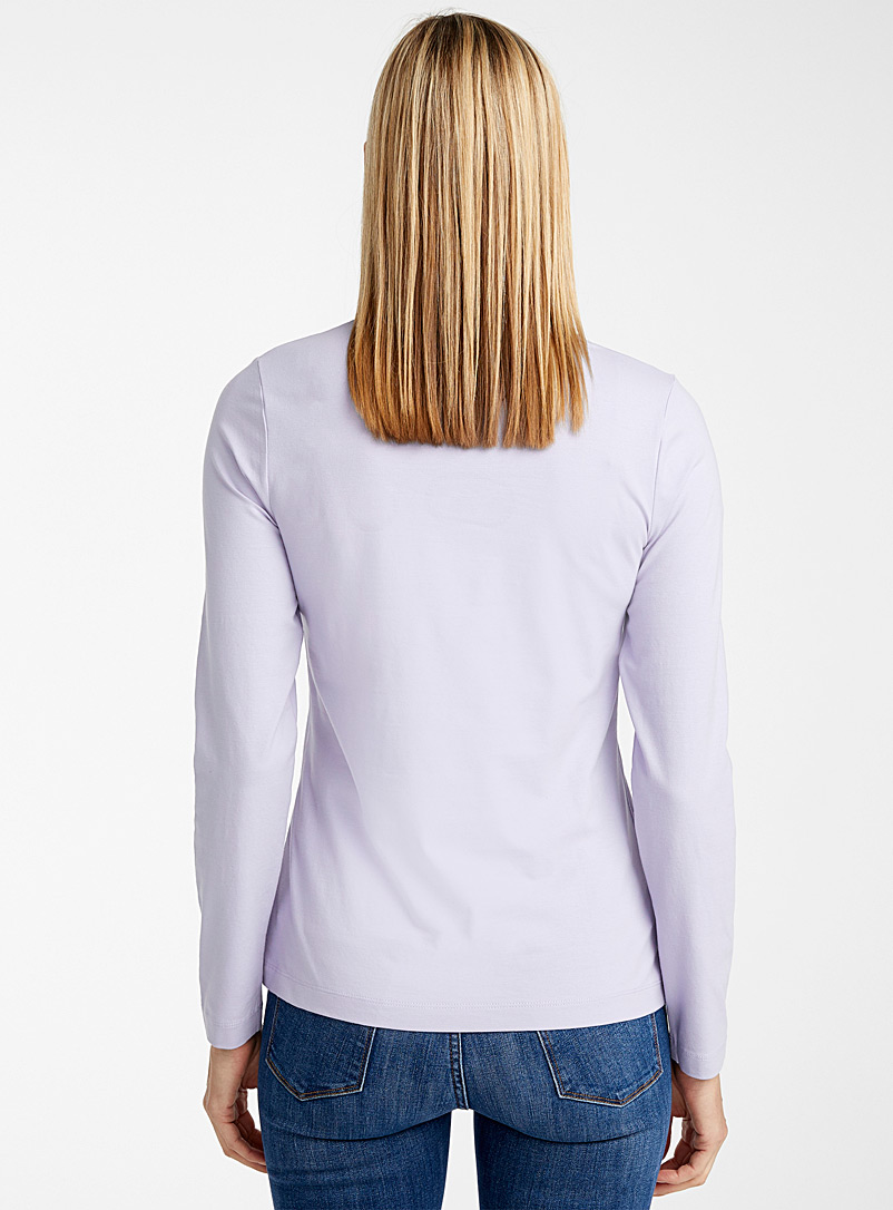 Contemporaine White SUPIMA® cotton long-sleeve tee for women