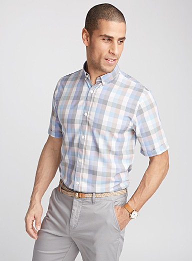 Fluid check shirt <br>Semi-tailored fit