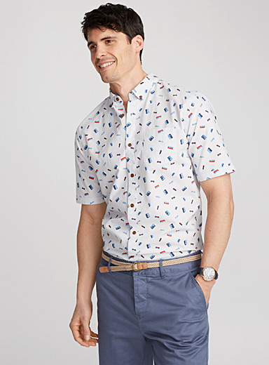 Contrast drawing shirt  Semi-tailored fit